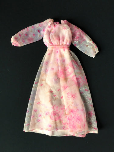 Mattel Kissing Barbie 1978 layered pink dress with lips motif 2597 fits 12
