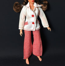 "Load image into Gallery viewer, MEGO Dinah Mite Blazer Days 1411 white jacket red trousers set fit 8"" doll"