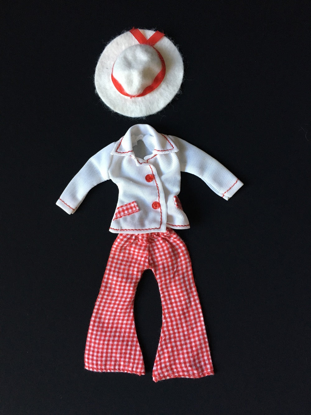 MEGO Dinah Mite Blazer Days 1411 white jacket red trousers set fit 8