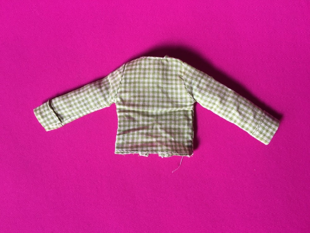 1974 MEGO Waltons - Pa - green check shirt fit 8 inch doll