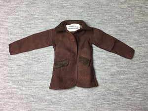 "Vintage Palitoy Action Girl ""Pony Club"" #32825 brown horse riding jacket for 12"" doll"