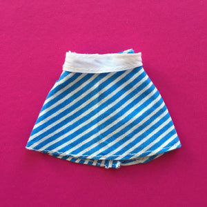 Pedigree Sindy Blue White Striped Skirt 1973 mini skirt with belt