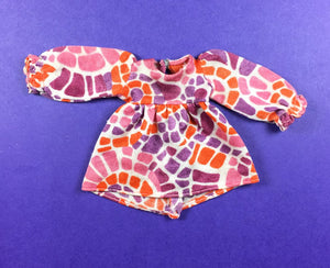 Pedigree Sindy Puffsleeves 1972 multi colour mini dress 12S12