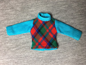 "Palitoy Pippa boyfriend Paul blue top multi colour tartan fit 6"" doll"