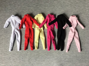 "ShimmyShim catsuit jumpsuit all-in-one long sleeves fit 11"" 12"" fashion doll 1:6"