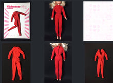 "Load image into Gallery viewer, ShimmyShim catsuit jumpsuit all-in-one long sleeves fit 11"" 12"" fashion doll 1:6"
