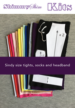 Load image into Gallery viewer, ShimmyShim Paper Pattern - Sindy size fashion doll tights, headband and socks