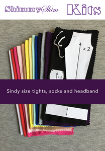 ShimmyShim Paper Pattern - Sindy size fashion doll tights, headband and socks
