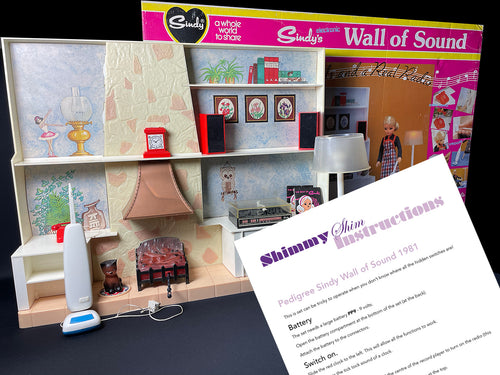 Typed Instructions for Vintage 1981 Sindy Wall of Sound set - Printable Download