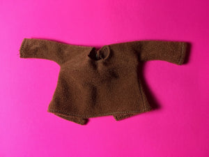 "Sindy brown top 1979 Mix 'n' Match Pedigree 44334 brushed nylon fit 12"" doll"