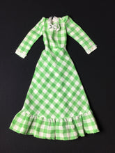 Load image into Gallery viewer, Sindy Barn Dance dress 1978 Pedigree 442713 green gingham check