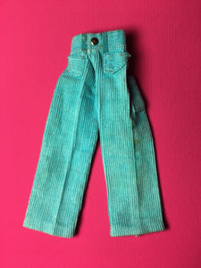 Sindy Casual Cords 1971 Pedigree 12S106 blue corduroy trousers
