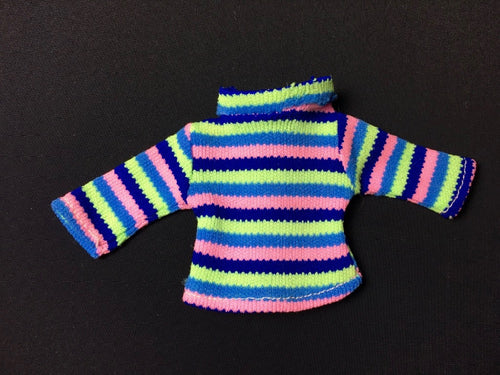 Sindy College Girl mini dress 1972 Pedigree 12S37 multi colour stripes