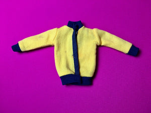 Keep Fit Sindy 1979 yellow tracksuit top blue stripe 44687