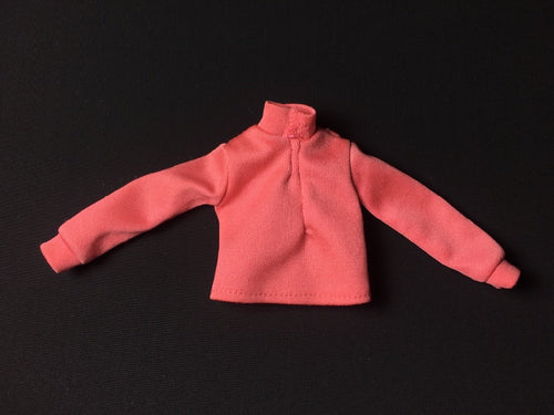 Sindy Lunch Date top 1977 Pedigree 44304 pink turtle neck long sleeves