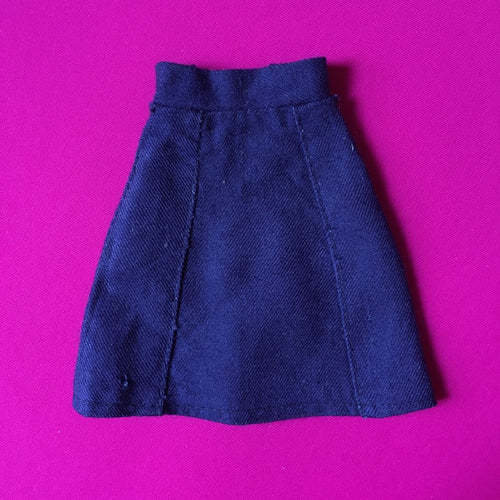 Sindy Mix 'n' Match blue skirt 1978 Pedigree 44185 soft A-line