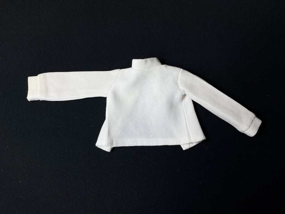 Sindy Paris Mode top 1978 Pedigree 44311 white turtle neck with cuffs fit 12