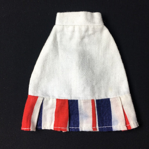 Pedigree Sindy Sunshine Girl skirt 1978 #44693 red blue white stripe hem