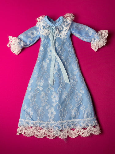 Pedigree Sindy Sweet Dreams 1979 blue lace night dress gown 44689