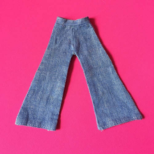 Sindy Weekender jeans 1976 high waist flared trousers fit 12