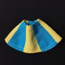 Load image into Gallery viewer, Pedigree Sindy skirt 1973 Blue Yellow Panel knee length