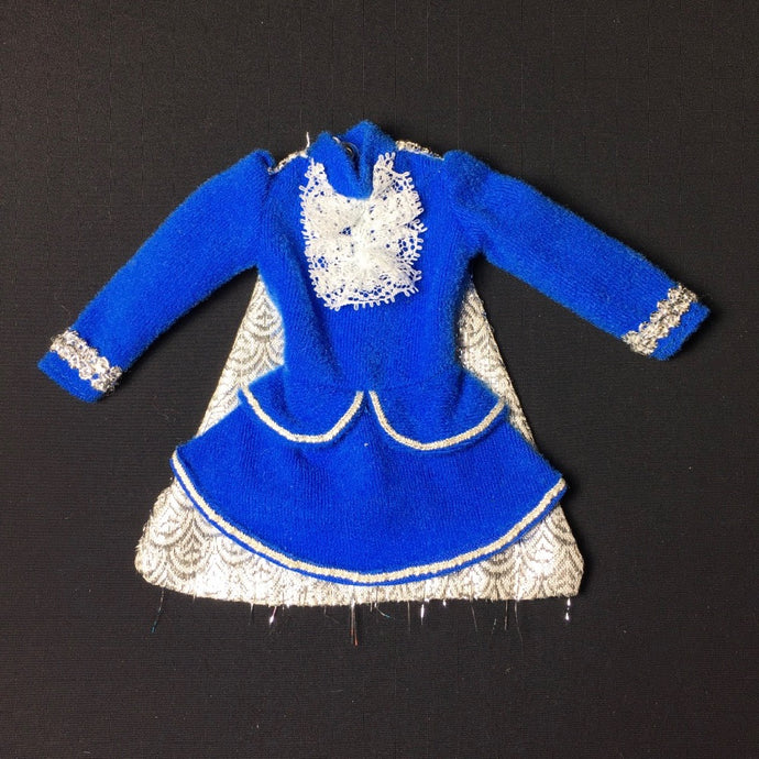 Sindy Majorette 1979 blue dress uniform with silver cape 44620