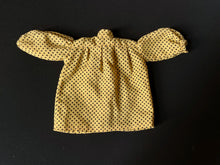 "Load image into Gallery viewer, Sindy Pop Singer dress 1983 Pedigree 44766 yellow black polka dots fit 12"" doll"