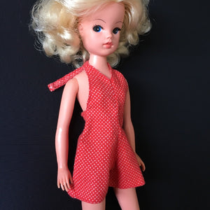 Sindy Sun Suit 1974 red polka playsuit S137