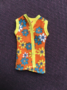 Pedigree Sindy Sunflower 1975 waistcoat flower power orange 44233