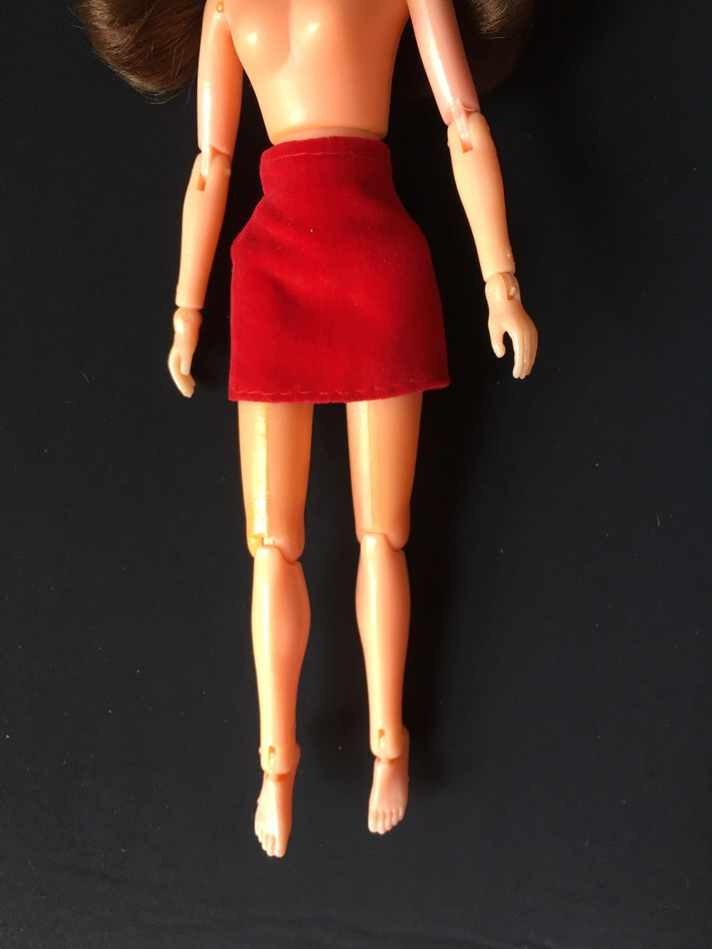 Mary Quant Daisy Mamzelle Fashions red velvet mini skirt fit 9 inch doll