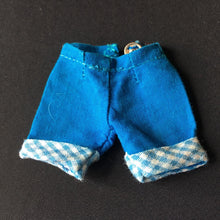 Load image into Gallery viewer, Vintage blue shorts gingham trim fit 8 inch fashion doll