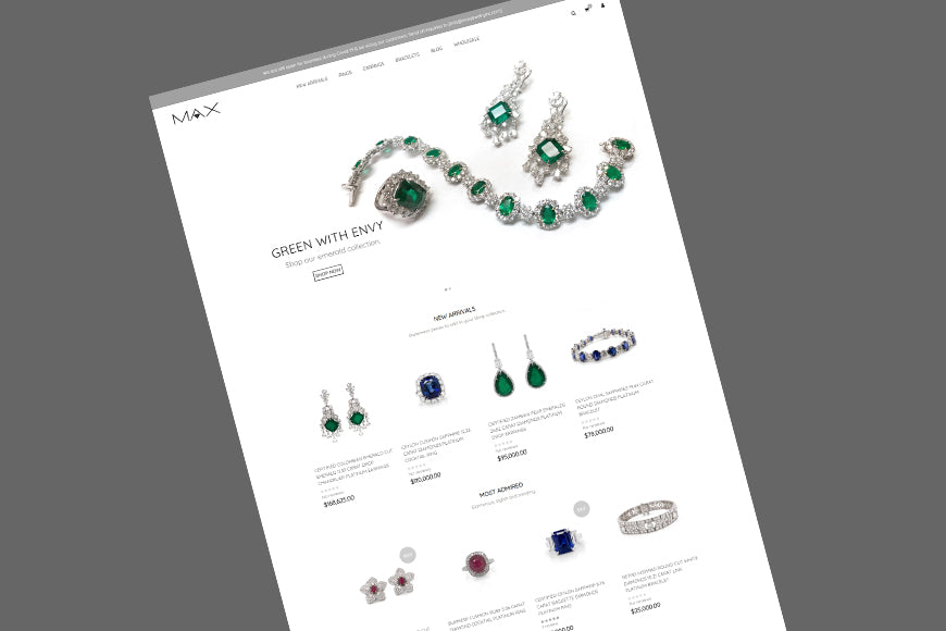 We've Finally Launched Our New Online Platinum Jewelry Store!
