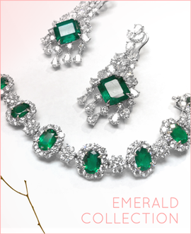 Emerald Collection - Earrings and Bracelet.