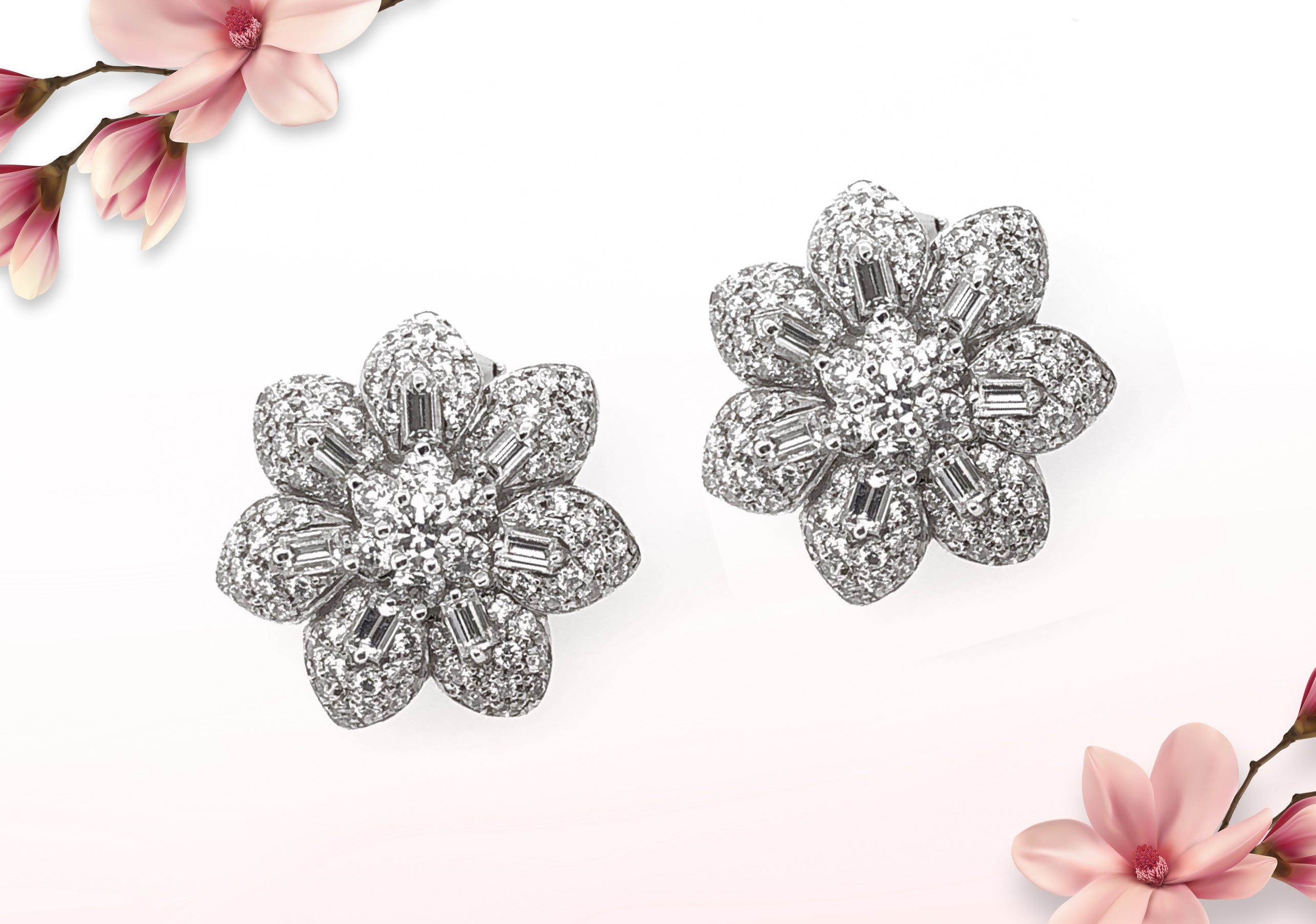 Flower earrings - Max Jewelry Inc.