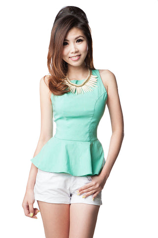 CanCan Peplum Sleeveless Top