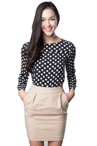 Kelly Polka Dots Top