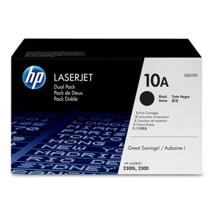 HP Q2610D Black Dual Pack Toner Cartridge 10A - HP 2300