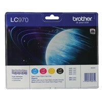 Brother LC970 B/C/M/Y Ink Value Pack