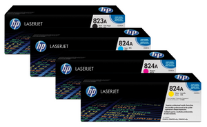 Genuine 4 Colour HP 823A/824A Toner Cartridge Value Set Black Cyan Magenta Yellow CB380A / CB381A / CB382A / CB383A - CP6015