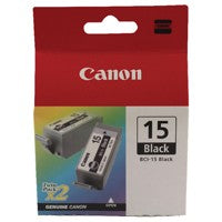 Canon BCI-15BK Black Twin Cartridges