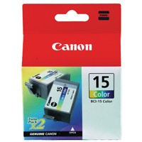 Canon BCI-15C Colour Twin Cartridges