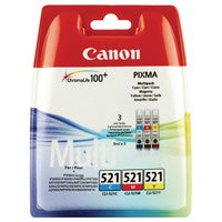 Canon CLI-521 C/M/Y Ink Triple Pack