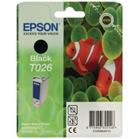Epson T026 Black Inkjet Cartridge T0264