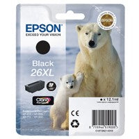 Epson 26XL Black H/Y Cartridge T2621