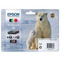 Epson 26 Bk/C/M/Y Cartridge Pack T2616