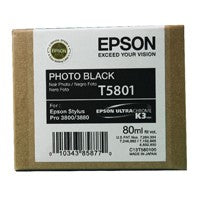 Epson T5801 Photo Black Ink Cartridge C13T580100 - Stylus Pro 3800 / 3880