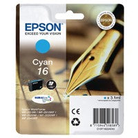 Epson 16 Cyan Inkjet Cartridge T1622