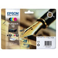 Epson 16 Bk/C/M/Y Cartridge Pack T1626