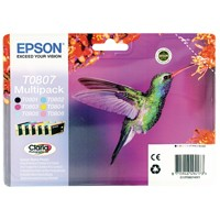 Epson T0807 Bk/C/M/Y/Lt.C/Lt.M Photo Ink