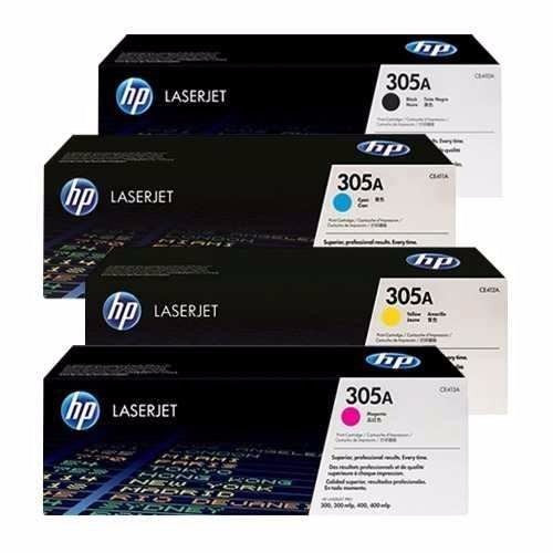 Genuine 4 Colour HP 305A Toner Cartridge Value Set B M Y C / Colours CE410A / CE411A / CE412A / CE413A